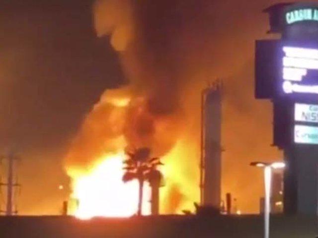 EEUU: se registró explosión y un incendio en refinería de petróleo