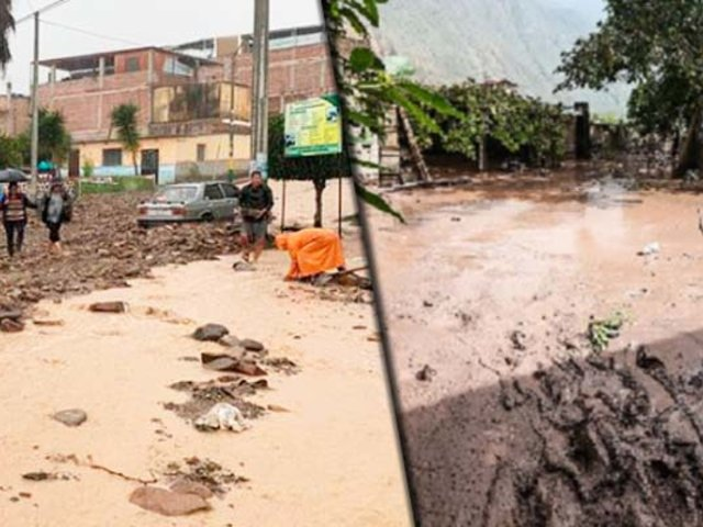 Moquegua: intensas lluvias desatan huaicos e inundan viviendas
