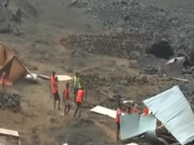 VMT: retiran viviendas prefabricadas de Santuario de Vizcachas