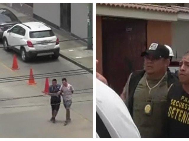 San Borja: capturan a sujetos acusados de extorsionar a courier tras intensa persecución