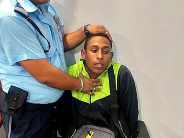 La Libertad: Policía y sereno detienen a venezolano que asaltó a transeúnte