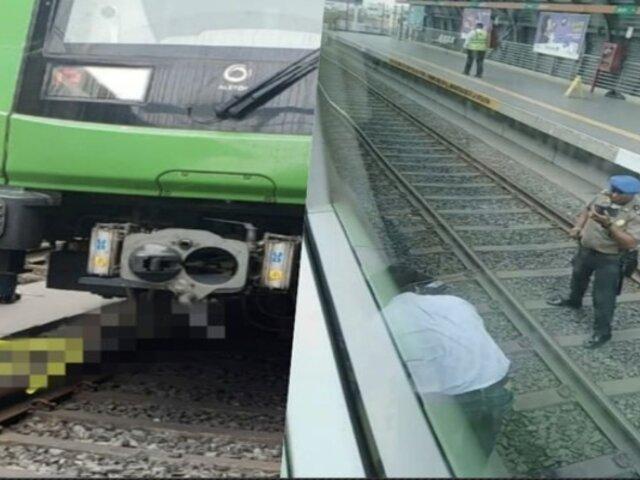Metro de Lima: hombre murió tras caer a las vías del tren en la Estación Angamos