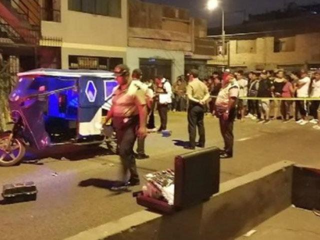 SMP: sicarios matan de balazo en el rostro a un mototaxista