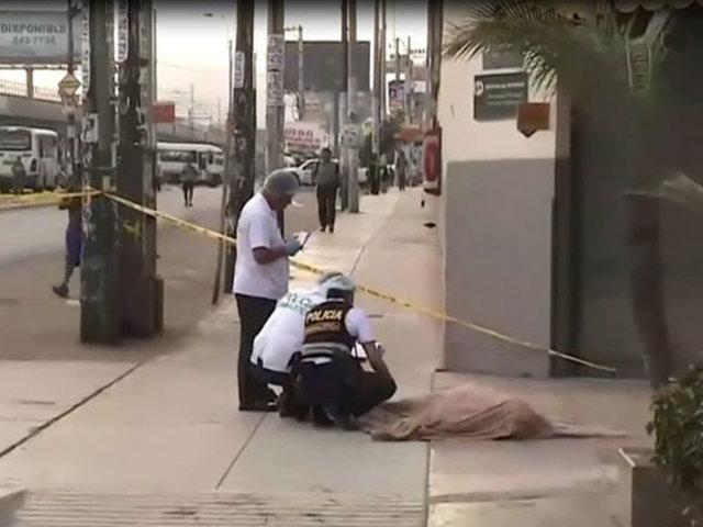 SJM: asesinan a puñaladas a sujeto que se resistió a robo