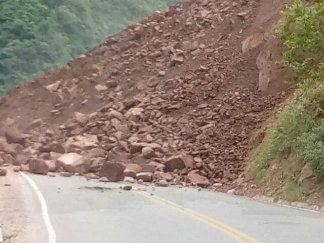 Carretera Chinchipe quedó intransitable en Cajamarca