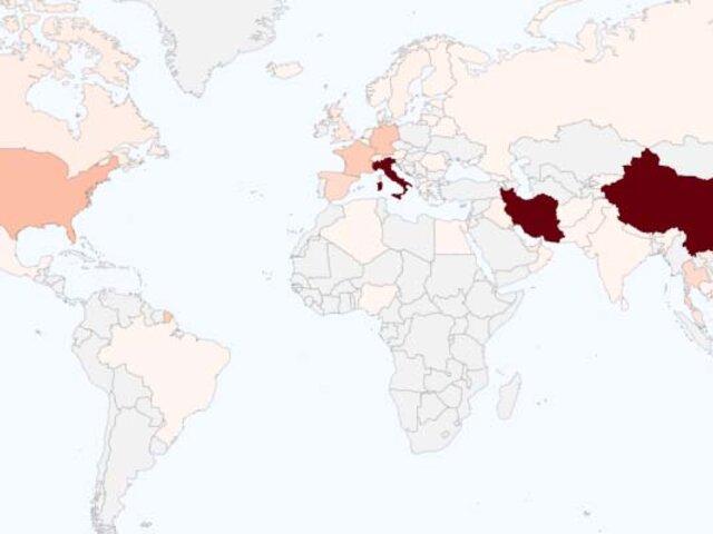 Coronavirus: ya son 54 países infectados por epidemia
