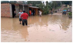 San Martín: declaran estado de emergencia en algunos distritos por intensas lluvias