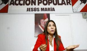Congresista Mónica Saavedra negó haber recibido apoyo con fondos públicos