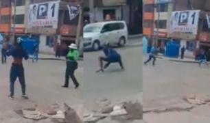 Puno: extranjeros protagonizaron violenta pelea en presencia de policía
