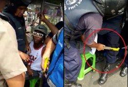 Decomisan machete a ambulante venezolano que se resistió a intervención