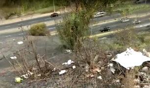 Barranco: malecón luce lleno de basura y con áreas verdes en mal estado