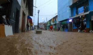 Ayacucho: fuertes lluvias convirtieron calles de Coracora en ríos