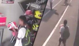 Trujillo: extranjero roba casco de motocicleta al interior de una tienda
