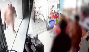 """Así fue intervenida por la policía la """"Ladrona desnuda"""" en San Miguel"""