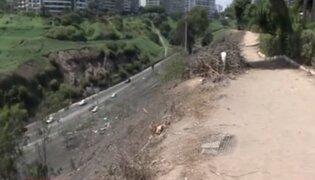 Barranco: recorrido por Malecón Paul Harris muestra áreas verdes descuidadas