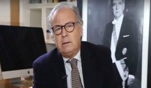 Alfredo Barnechea anuncia precandidatura presidencial por Acción Popular