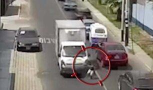 Surco: niño de ocho años fue atropellado por una furgoneta y queda herido