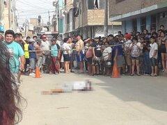 Trujillo: tiroteo desatado por sicarios deja dos muertos y una mujer herida