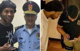 Liberan a Ronaldinho tras ser detenido por entrar con un pasaporte falso a Paraguay