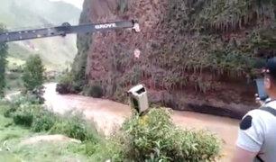 Cusco: buscan intensamente a niño que desapareció en río tras accidente vehicular