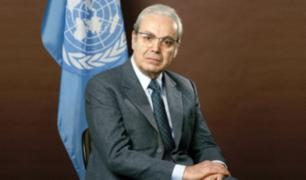Declaran duelo nacional por muerte de Javier Pérez de Cuéllar