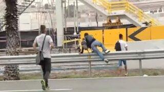Panamericana Sur: embisten a personas que cruzaban vía por falta de puente