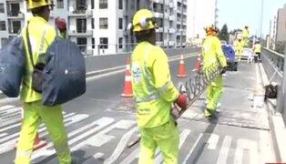 """Congestión en intercambio vial """"El Derby"""" por trabajos de mantenimiento"""