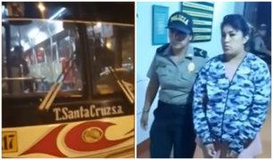 Carabayllo: una mujer y dos menores asaltaron con cuchillo un bus