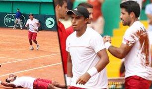 Perú vence en dobles a Suiza en la Copa Davis