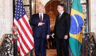 Donald Trump recibió a Jair Bolsonaro en su residencia de Miami