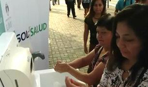 San Isidro: realizan campaña para enseñar el correcto lavado de manos