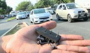 San Isidro: identifican a sujeto que arroja tachuelas y clavos en pistas