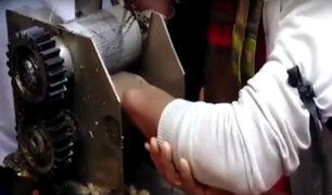 Huancayo: mano de trabajador quedó atrapada en máquina para exprimir