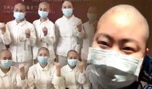 Coronavirus: enfermeras chinas se rapan el cabelllo para evitar contagio