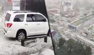 Colombia: intensa granizada de cuatro horas causa destrozos en las calles de Bogotá