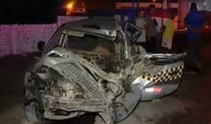 Comas: colisión de auto con bus deja un fallecido