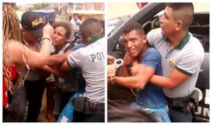 Tumbes: turba intentó impedir detención de venezolano indocumentado