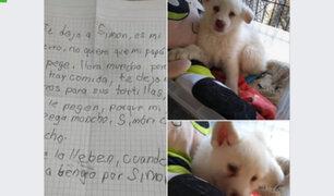 La conmovedora carta de niño que deja perrito en albergue para que lo cuiden