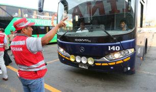 Año Nuevo: Sutran moviliza más de mil inspectores a nivel nacional
