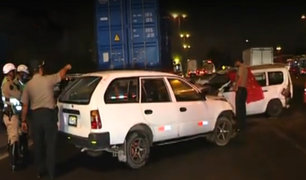 San Borja: triple accidente automovilístico deja un fallecido cerca al Puente Primavera