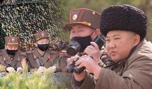 Corea del Norte: Kim Jong-un supervisó ejercicios de artillería sin mascarilla