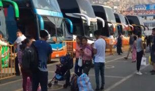 Terminal de Yerbateros reinició actividades tras finalizar huelga  de transportistas