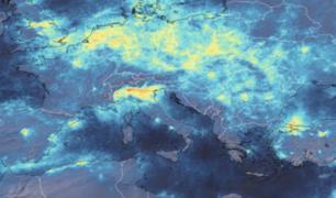 Italia: cuarentena habría provocado disminución de la contaminación, según imagen satelital