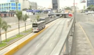 Estado de emergencia: reja impide ingreso a la Vía Expresa del Paseo de la República