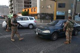 Estado de emergencia: vehículos particulares no podrán circular a partir de mañana