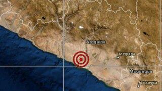 Arequipa: sismo de magnitud 4.0 se registró esta tarde