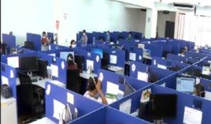 Teleoperadores de EsSalud  trabajaban sin implementos de protección