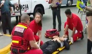 Policía motorizado fue arrollado por un taxista en la avenida Tacna