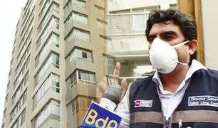 Desinfectarán edificio de Miraflores donde falleció hombre con coronavirus