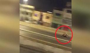 SMP: detienen en espectacular persecución a motociclista en pleno estado de emergencia